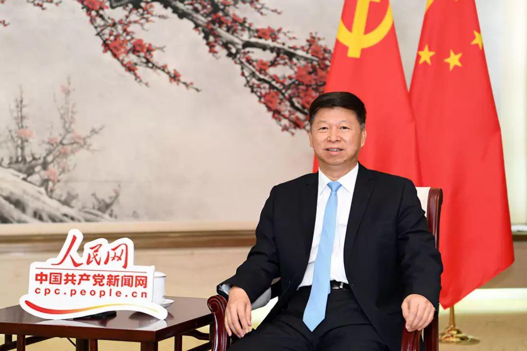 中联部部长宋涛接受人民网·中国共产党新闻网独家专访 人民网记者 翁奇羽摄