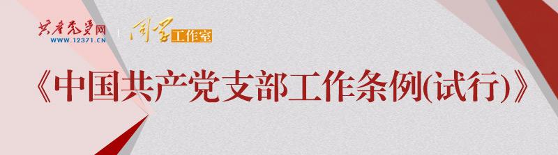《中国共产党支部工作条例(试行)》
