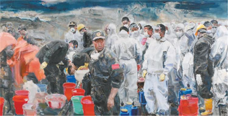 《存在·2008·北川》 駱根興 油畫