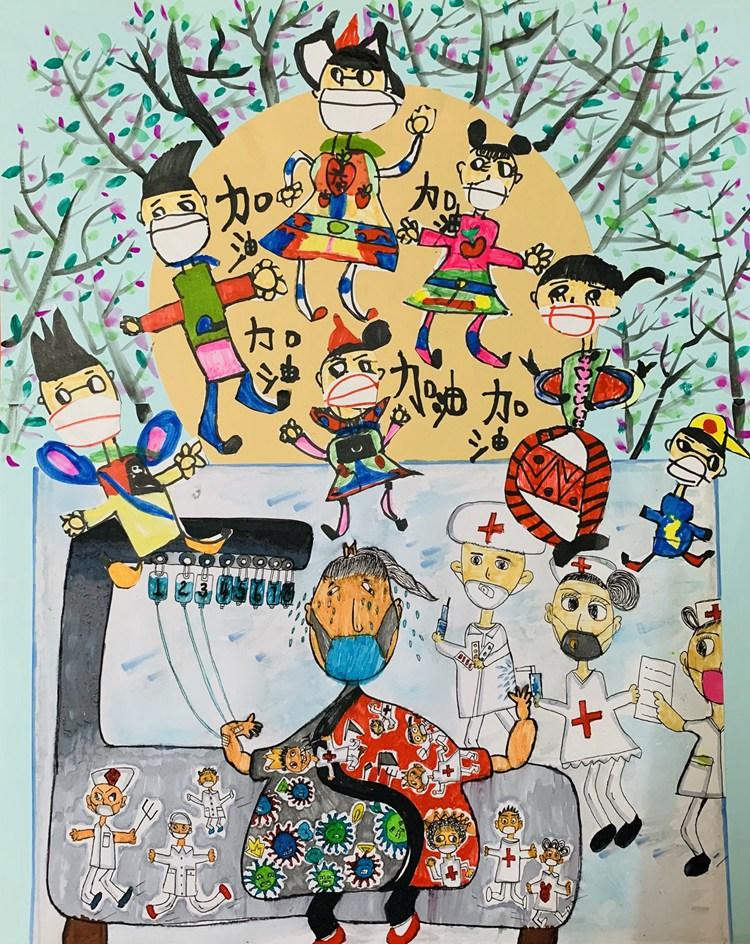《春的希望》 呂妙言   6歲   兒童畫