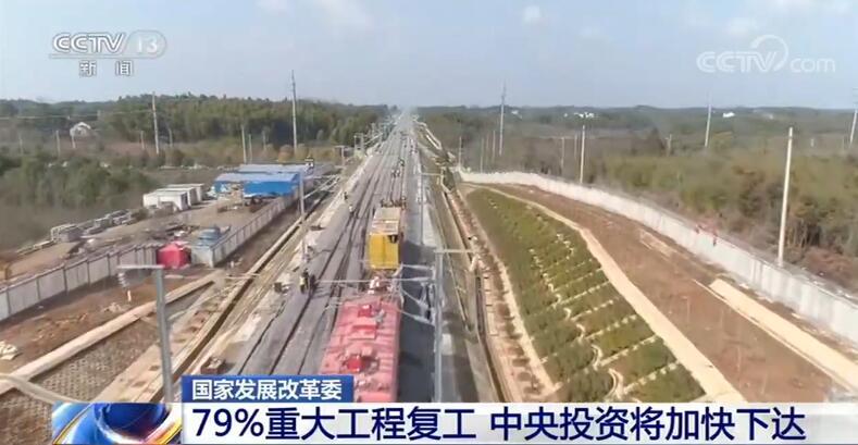 国家发展改革委:79%重大工程复工 中央投资将加快下达