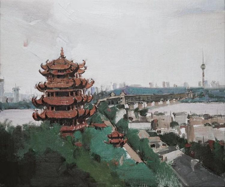 《武漢·英雄之城》王生凱   油畫