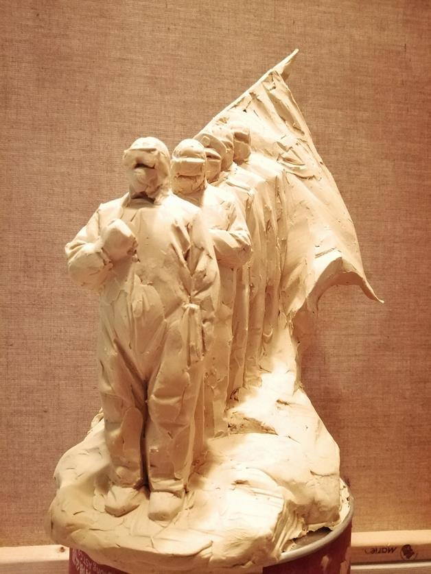 武定宇 《眾志成城》 雕塑 2020年