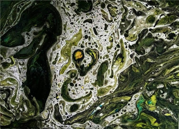 《戰疫情·白細胞衛士Ⅱ》  朱沛強   油畫