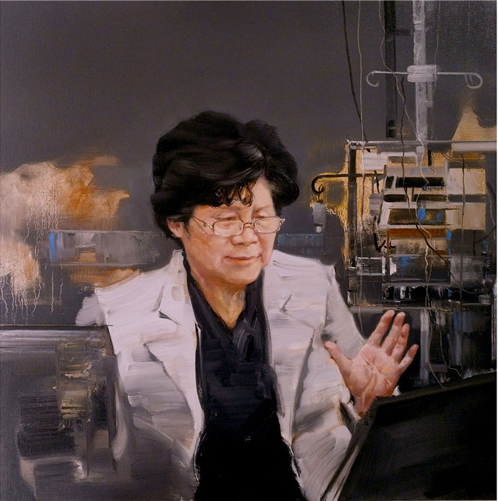 《國士之風》-賈文廣-油畫