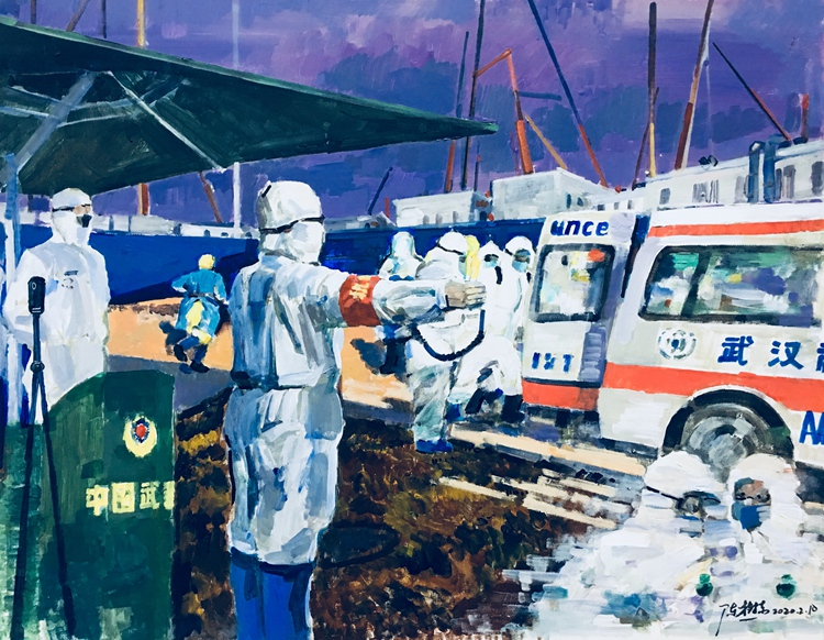 《守衛》陳樹東    油畫