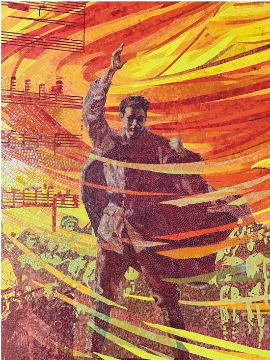 范迪安 白曉剛 延安文藝 永恒華章(局部) 壁畫