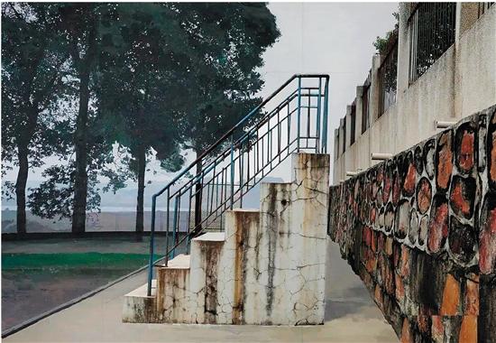 李昊文(中央美術學院) 花崗岩的墻面 布面綜合材料