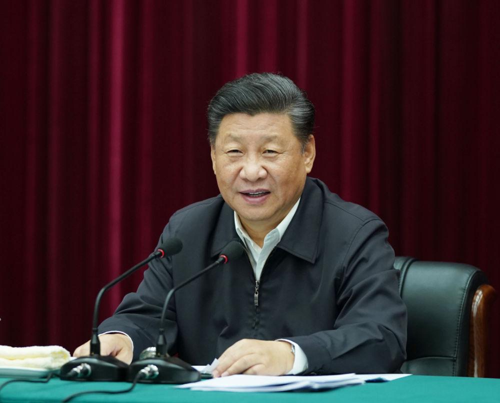2019年9月18日,习近平在河南主持召开黄河流域生态保护和高质量发展座谈会并发表重要讲话。新华社记者 谢环驰 摄