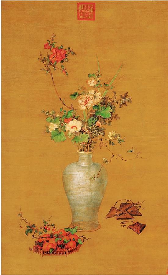 清 郎世寧 午瑞圖軸 140×84cm 北京故宮博物院藏