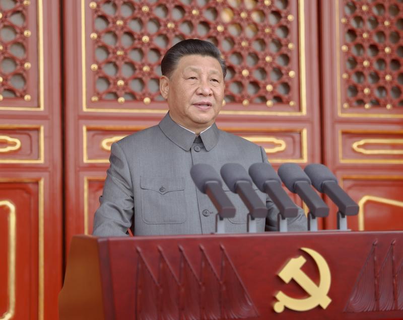 7月1日,庆贺中国共产党建立100周年大会在北京天安门广场盛大停止。中共中间总布告、国度主席、中间军委主席习近平颁发首要发言。新华社记者 鞠鹏 摄