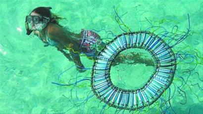 """海洋垃圾""""变身""""澳洲小岛装饰艺术"""