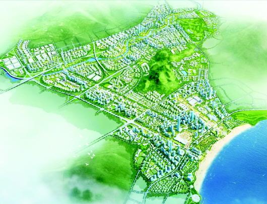 青岛金家岭金融新区总体规划图