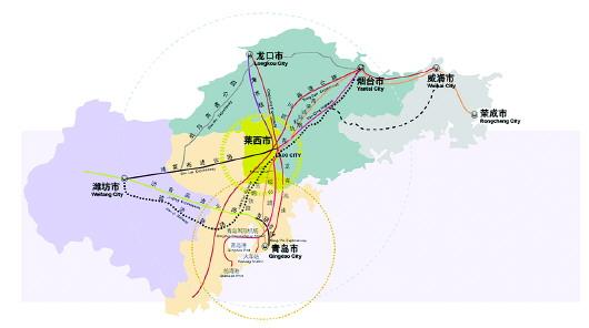 """""""   莱西地处胶东半岛中心,是青岛,烟台,威海三个城市综合发展带上的"""