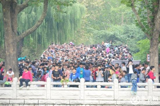 济南动物园国庆前后两天对比图:空荡vs爆满
