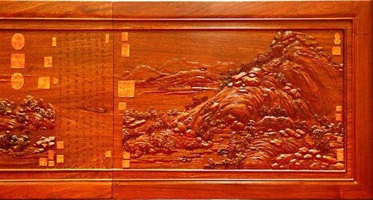 红木雕刻合璧圆满成功