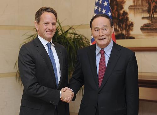 Ван Цишань провел рабочие переговоры со спецпосланником президента США Т. Гайтнером