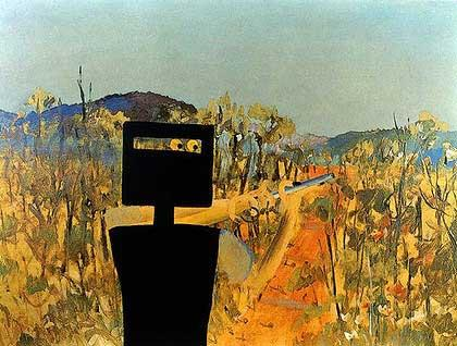 "The painting ""First Class Marksman"" by Sidney Nolan"