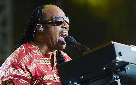 Ebullient enthusiasm: Stevie Wonder at Hard Rock Calling, Hyde Park Photo: PA