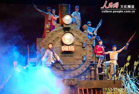 "Dance drama ""Railway Guerrilla"" will march onto the stage in the days prior to Army Day on August 1st."