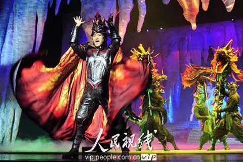 """""""MagicWonderland,""""amusicalbasedonoriginalcomics,wasstagedlastSundayatthePLATheatreinBeijing."""
