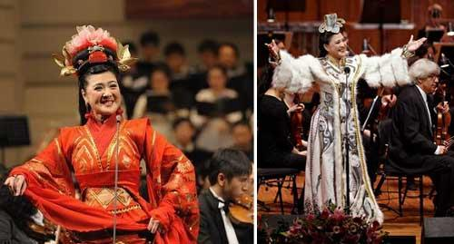 Chinese diva Wan Shanhong collaborated with a local symphony orchestra and chorus and presented the four great works of ancient Chinese literature.
