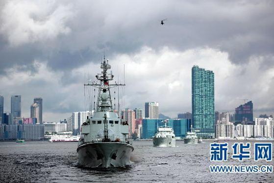 驻港部队举行最大规模海空联合巡逻演练
