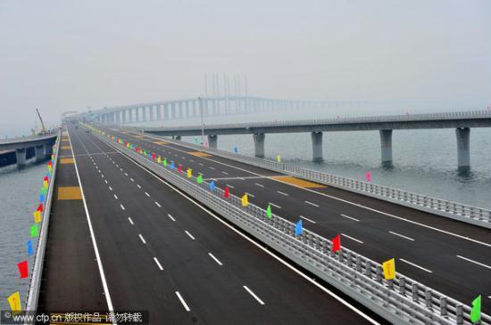 Jiaozhou Bay Bridge Opens To Traffic Cctv News Cntv English
