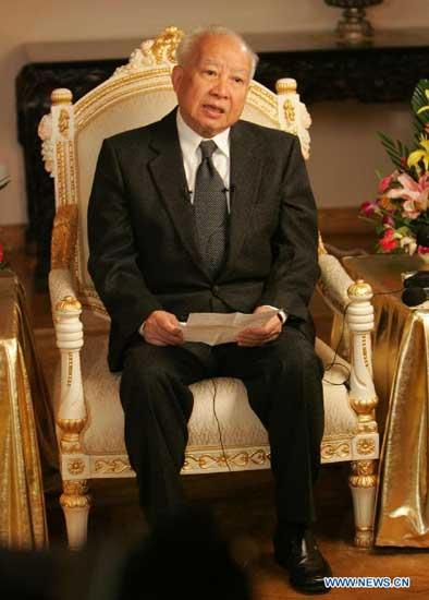 Norodom Sihanouk king in china