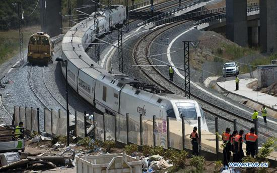 railway lines restored after derailment accident in spain