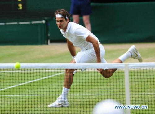 It was another gloriously sunny day in south west London for the four men's quarter-finals at Wimbledon. But six-times champion and top seed Roger Federer of Switzerland crashed out.