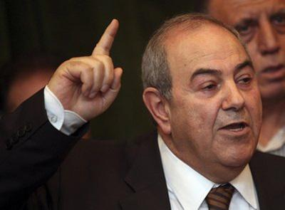 FormerIraqiPrimeMinisterAyadAllawispeakstothepressinBaghdad,Iraq,Saturday,March27,2010.Allawisaidheiswillingtoworkwithanyoneincludingthemantowhomhejustdeliveredastunningupsetonedayafterelectionresultsshowedhimwitharazor-thinleadoverprimeministerNourial-Maliki.(APPhoto/KarimKadim)