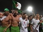 阿尔及利亚球员庆祝晋级2010世界杯
