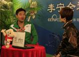 CCTV5主持人尤宁做客李宁会客厅