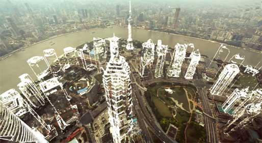 另类创意视频 换个视角看上海30年变迁