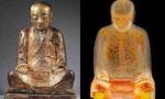 千年佛像内现打坐和尚