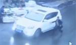 监拍司机停车问路车被抢