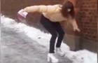 穿高跟鞋走结冰路面的后果
