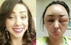 用完染发剂 美女变外星人