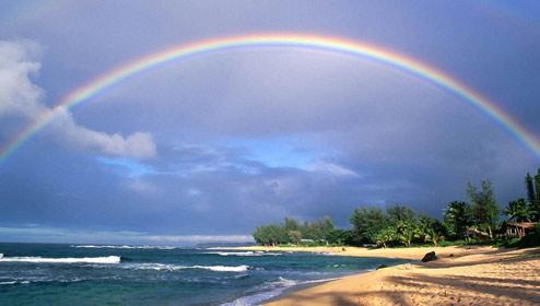 延时拍摄彩虹的产生与消失 过程十分美妙