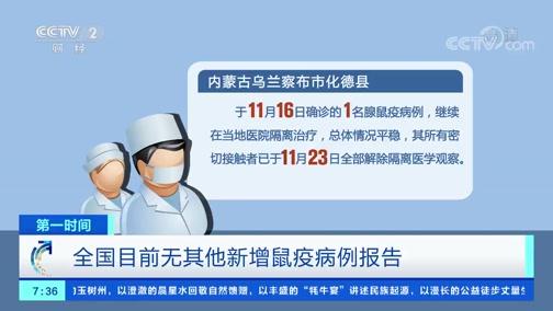 [第一时间]全国目前无其他新增鼠疫病例报告