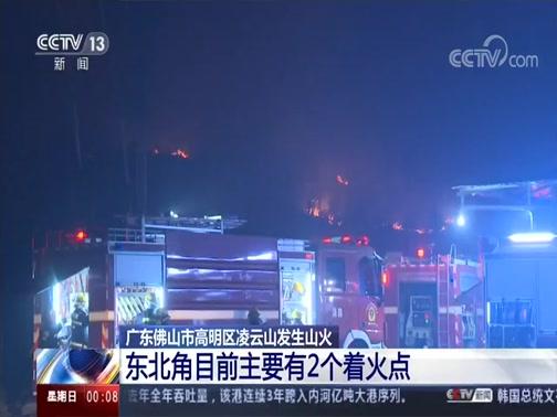 [午夜新闻]广东佛山市高明区凌云山发生山火 凌云山东北角山火持续