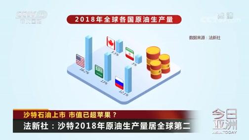 [今日亚洲]沙特石油上市 市值已超苹果?