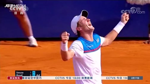 [网球]鲁德直落两盘击败索萨 获职业生涯首冠
