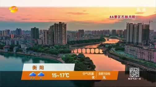 [湖南新闻联播]卫视气象站 20200308