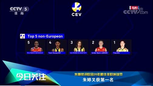 [排球]朱婷获评欧冠20年最佳非欧洲球员