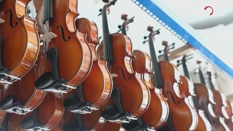 Farmers craft 80\% of top-grade violins in China