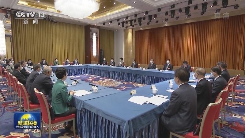 赵乐际与农工党、体育界别政协委员共商国是