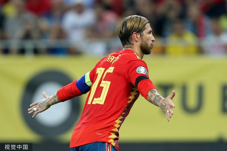 [图]欧预赛-拉莫斯破门帕科建功 西班牙2-1客胜