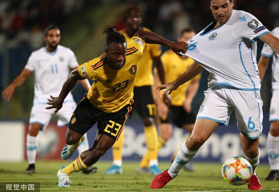 欧预赛-查德利传射建功 比利时4-0鱼腩稳居第一